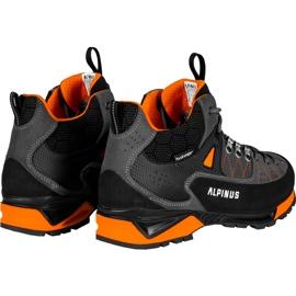 Buty trekkingowe Alpinus The Ridge Mid Pro antracytowo-pomarańczowe GR43288 szare 3