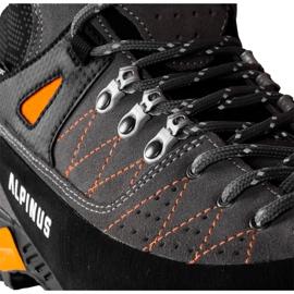 Buty trekkingowe Alpinus The Ridge Mid Pro antracytowo-pomarańczowe GR43288 szare 4
