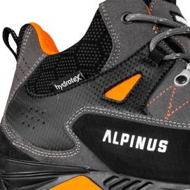 Buty trekkingowe Alpinus The Ridge Mid Pro antracytowo-pomarańczowe GR43288 szare 5