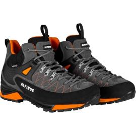 Buty trekkingowe Alpinus The Ridge Mid Pro antracytowo-pomarańczowe GR43288 szare 2