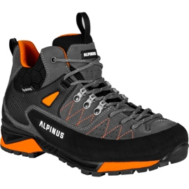 Buty trekkingowe Alpinus The Ridge Mid Pro antracytowo-pomarańczowe GR43288 szare 1