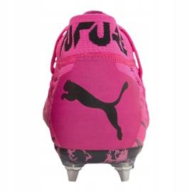 Buty piłkarskie Puma Future 6.1 Netfit Mx Sg M 106178-03 różowe wielokolorowe 1