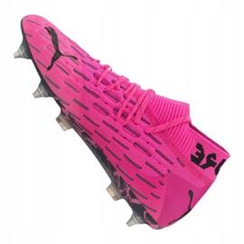 Buty piłkarskie Puma Future 6.1 Netfit Mx Sg M 106178-03 różowe wielokolorowe 4