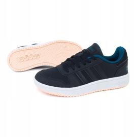 Buty adidas Hoops 2.0 K EE6718 czarne zielone 1