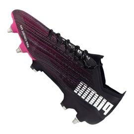 Buty piłkarskie Puma Ultra 1.1 Mx Sg M 106076-03 czarny, czarny, fioletowy czarne 4
