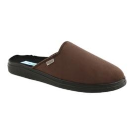 Befado obuwie męskie  pu 132M009 brązowe 1