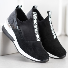 Filippo Wsuwane Sneakersy Ze Skóry czarne 2