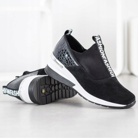 Filippo Wsuwane Sneakersy Ze Skóry czarne 1