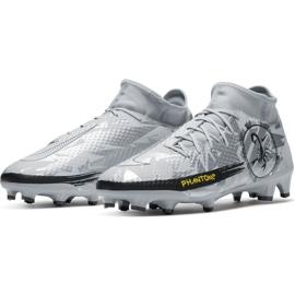 Buty piłkarskie Nike Phantom Gt Scorpion Academy Dynamic Fit FG/MG M DA2266 001 srebrny niebieskie 3
