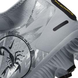Buty piłkarskie Nike Phantom Gt Scorpion Academy Dynamic Fit FG/MG M DA2266 001 srebrny niebieskie 6