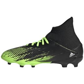 Buty piłkarskie adidas Predator 20.3 Fg Junior czarno-zielone EH3024 2
