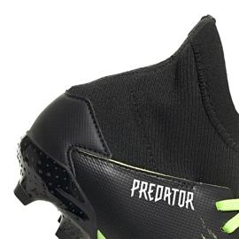 Buty piłkarskie adidas Predator 20.3 Fg Junior czarno-zielone EH3024 4