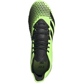 Buty piłkarskie adidas Predator 20.2 Fg zielono-czarne EH2932 zielone zielone 1