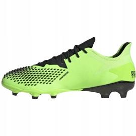 Buty piłkarskie adidas Predator 20.2 Fg zielono-czarne EH2932 zielone zielone 2