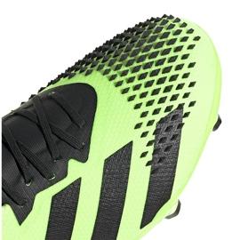 Buty piłkarskie adidas Predator 20.2 Fg zielono-czarne EH2932 zielone zielone 4