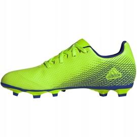 Buty piłkarskie adidas X Ghosted.4 FxG zielone EG8194 2