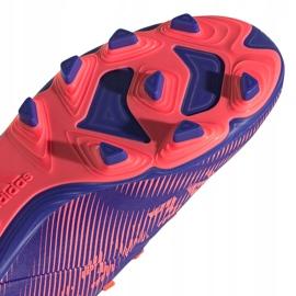 Buty piłkarskie adidas Nemeziz.4 FxG Junior fioletowo-różowe EH0585 fioletowe 5