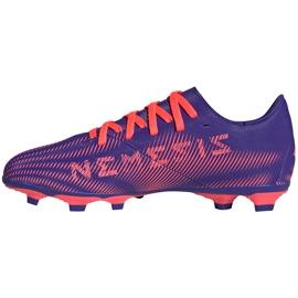Buty piłkarskie adidas Nemeziz.4 FxG Junior fioletowo-różowe EH0585 fioletowe 2