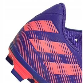 Buty piłkarskie adidas Nemeziz.4 FxG Junior fioletowo-różowe EH0585 fioletowe 4