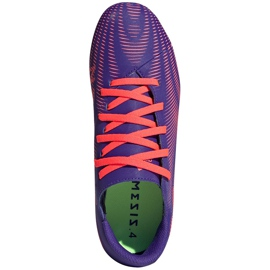 Buty piłkarskie adidas Nemeziz.4 FxG Junior fioletowo-różowe EH0585 fioletowe 1