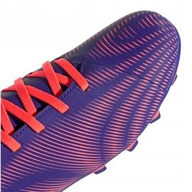 Buty piłkarskie adidas Nemeziz.4 FxG Junior fioletowo-różowe EH0585 fioletowe 3
