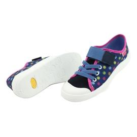 Befado obuwie dziecięce 251Y162 niebieskie różowe wielokolorowe 4