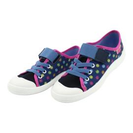 Befado obuwie dziecięce 251Y162 niebieskie różowe wielokolorowe 3