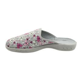Befado kolorowe obuwie dziecięce     707Y411 różowe szare 2