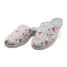 Befado kolorowe obuwie dziecięce     707Y411 różowe szare 3