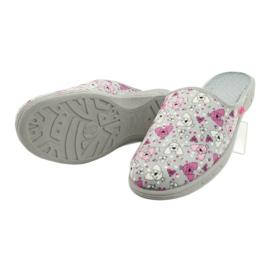 Befado kolorowe obuwie dziecięce     707Y411 różowe szare 4