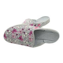 Befado kolorowe obuwie dziecięce     707Y411 różowe szare 5