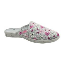 Befado kolorowe obuwie dziecięce     707Y411 różowe szare 1