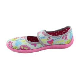 Befado  obuwie dziecięce 945Y430 różowe szare wielokolorowe 2