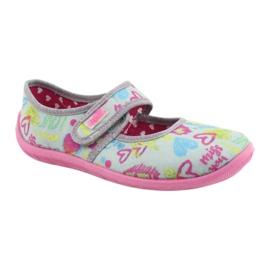 Befado  obuwie dziecięce 945Y430 różowe szare wielokolorowe 1