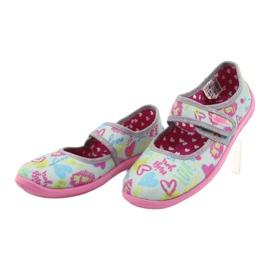 Befado  obuwie dziecięce 945Y430 różowe szare wielokolorowe 3