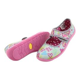 Befado  obuwie dziecięce 945Y430 różowe szare wielokolorowe 4