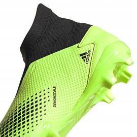 Buty piłkarskie adidas Predator 20.3 Ll Fg zielono-czarne EH2929 zielone zielone 4