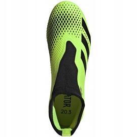 Buty piłkarskie adidas Predator 20.3 Ll Fg zielono-czarne EH2929 zielone zielone 1