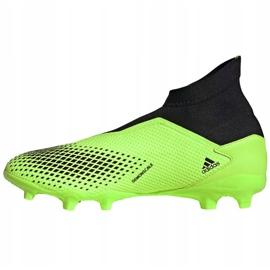 Buty piłkarskie adidas Predator 20.3 Ll Fg zielono-czarne EH2929 zielone zielone 2