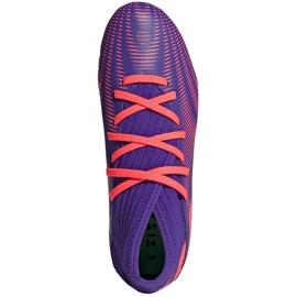Buty piłkarskie adidas Nemeziz.3 Fg Junior fioletowe EH0580 1