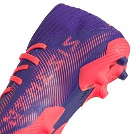 Buty piłkarskie adidas Nemeziz.3 Fg Junior fioletowe EH0580 4