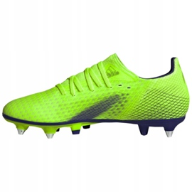 Buty piłkarskie adidas X Ghosted.3 Sg M EG8176 zielone wielokolorowe 1