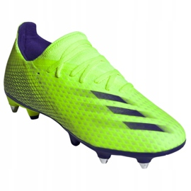 Buty piłkarskie adidas X Ghosted.3 Sg M EG8176 zielone wielokolorowe 3