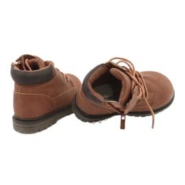 Apawwa Dziecięce chłopięce trapery botki brązowe Moa 12