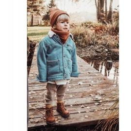 Apawwa Dziecięce chłopięce trapery botki brązowe Moa 7