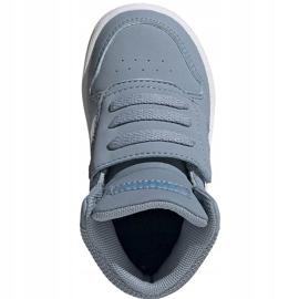 Buty dla dzieci adidas Hoops Mid 2.0 niebieskie FW4922 2