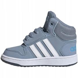 Buty dla dzieci adidas Hoops Mid 2.0 niebieskie FW4922 1