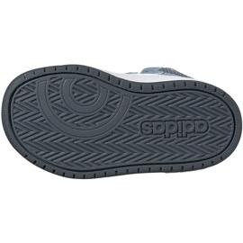 Buty dla dzieci adidas Hoops Mid 2.0 niebieskie FW4922 4
