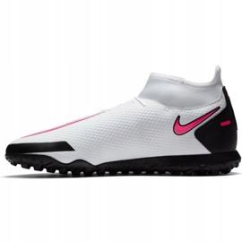 Buty piłkarskie Nike Phantom Gt Club Df Tf CW6670 160 białe wielokolorowe 1