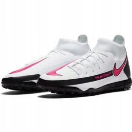Buty piłkarskie Nike Phantom Gt Club Df Tf CW6670 160 białe wielokolorowe 3